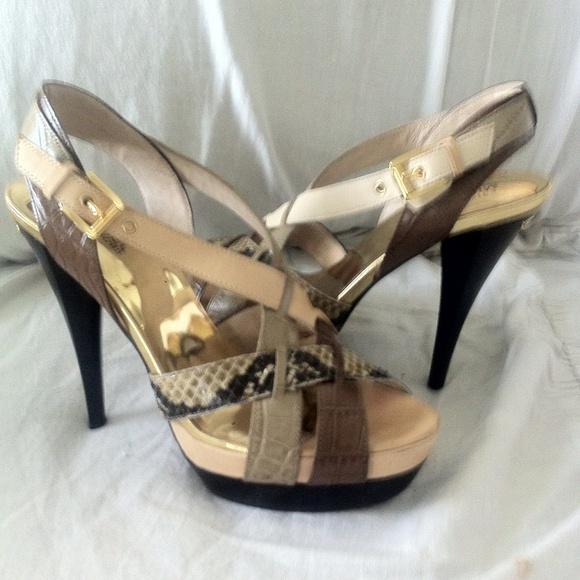 Michael Kors Shoes - Michael Kors snake skin sandal heels
